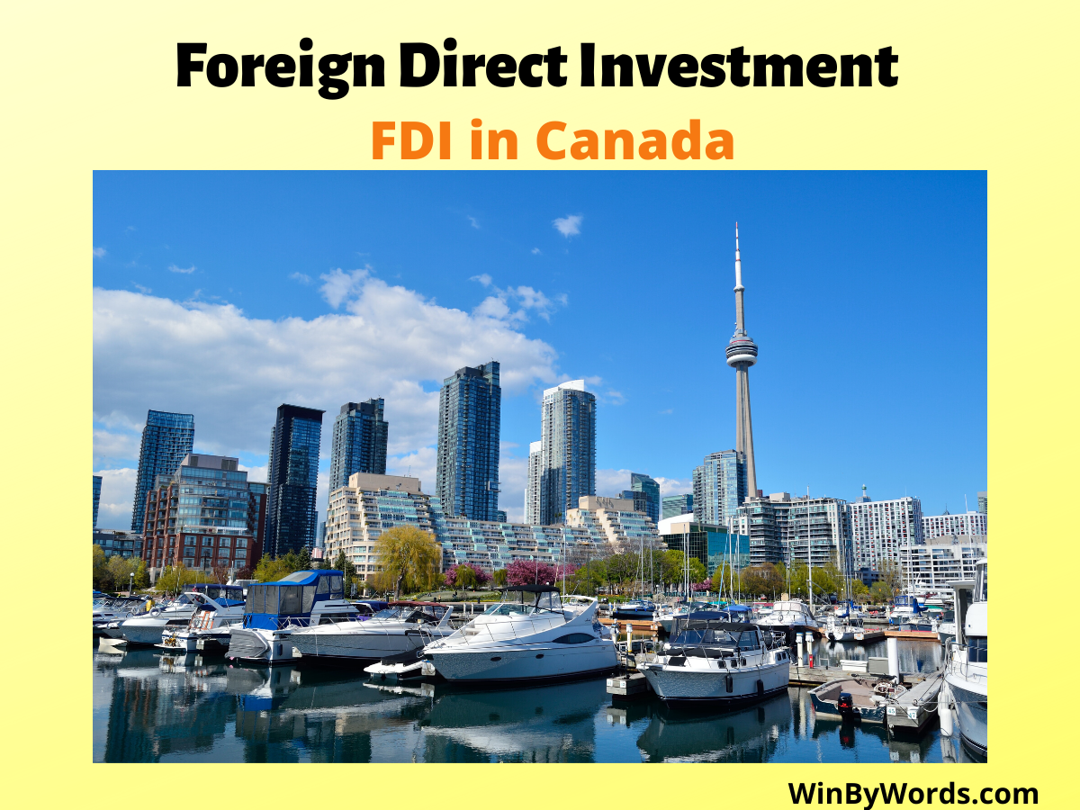 Foreign Direct Investment in Canada, FDI in Canada